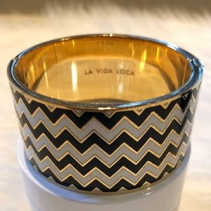 Kate Spade La Vida Loca Chevron Ziggurat Bracelet for sale